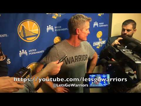 "Entire KERR postgame: ""We weren't guarding anybody"" first half, Steph Curry's dunk, Nick Young, Zaza"