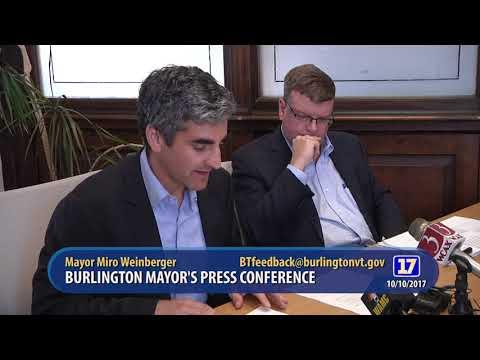 Burlington Mayors Press Conference 10 10 2017