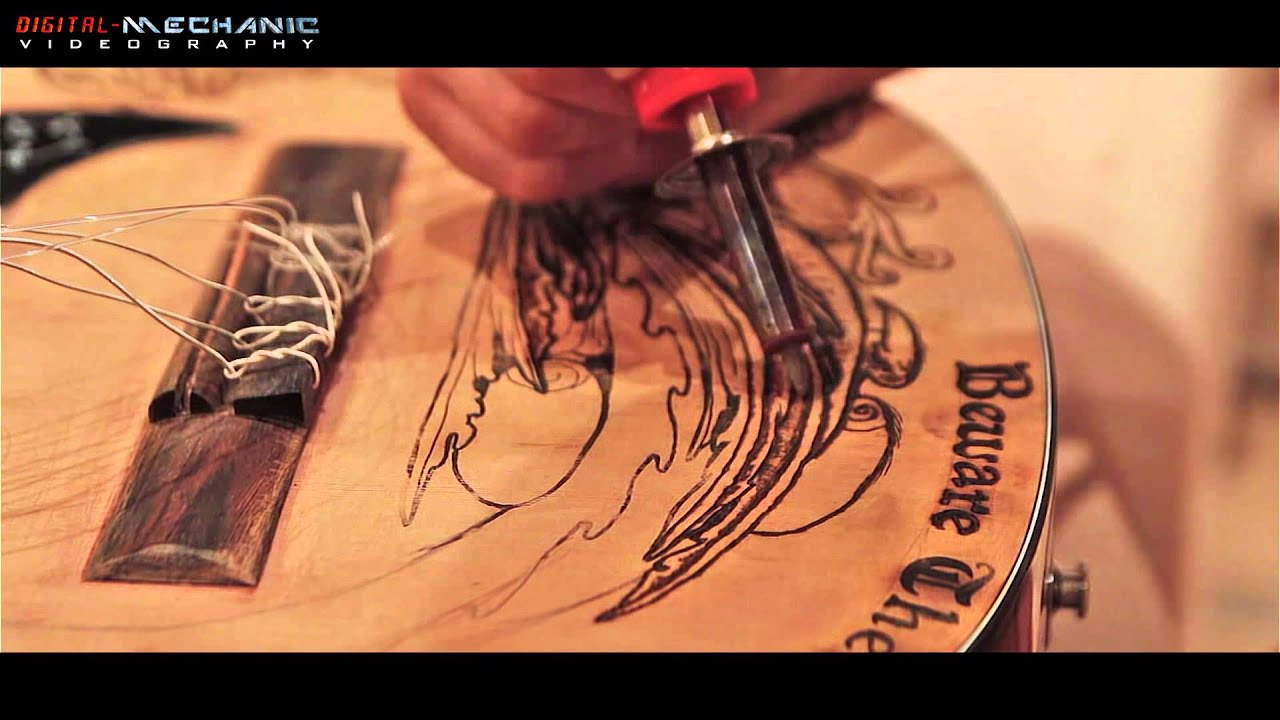 HD Classical Guitar Jabberwock Pyrography By Taylored Imagery