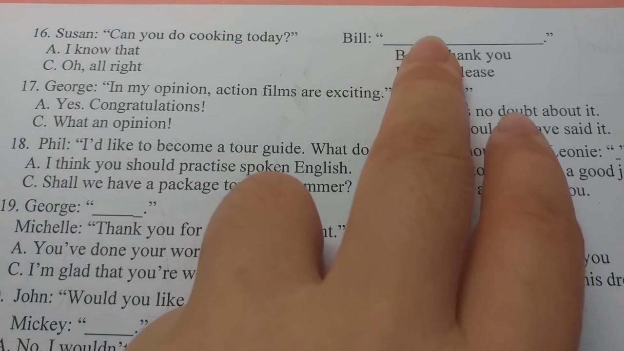 Chống liệt Tiếng Anh: Câu giao tiếp (ôn thi THPTQG)