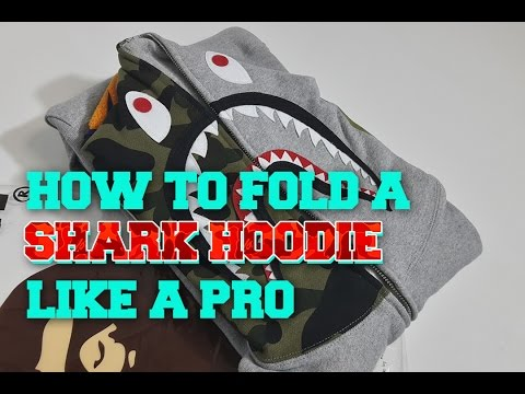 How to Fold a Shark Hoodie (or any zip-up hoodie) Like a Pro