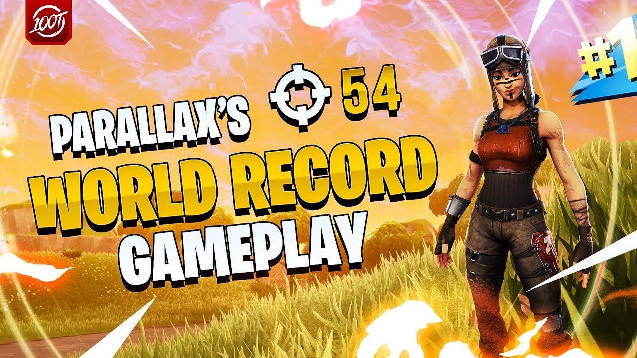 New Fortnite Squads World Record Parallax Full Gameplay