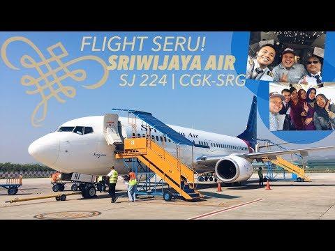 SRIWIJAYA AIR   Flight Seru & Cockpit Visit   SJ224 Jakarta-Semarang!