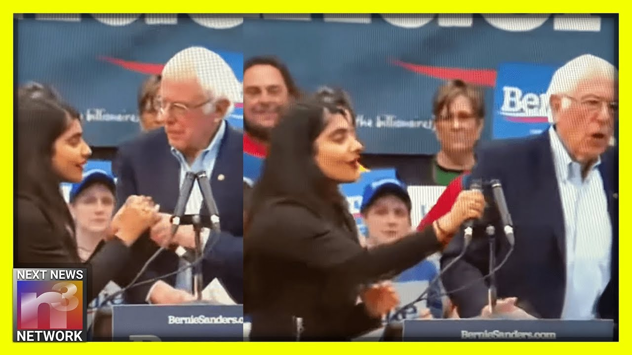 Anti-Dairy Activists Crash Bernie's Rally - The Look on His Face Says EVERYTHING You Need to Kn