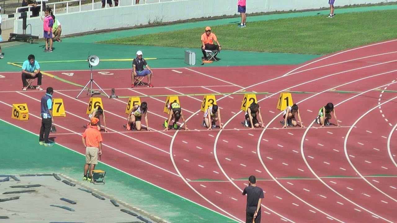 H28 千葉県中学校新人陸上 1年女子100m 決勝