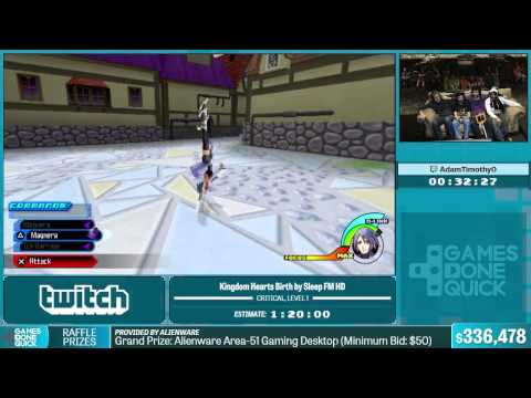 Kingdom Hearts Birth by Sleep FM HD by a in 1:12:41 - Summer Games Done Quick 2015 - Part 68