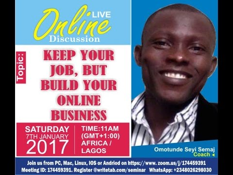 Keep Your Job but Build online Business ( Recorded Live Discussion)