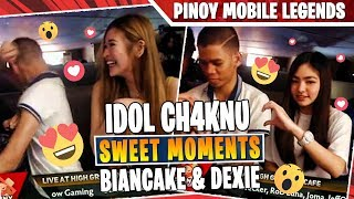 *KILIG MOMENTS* 😍 IDOL CH4KNU NAHIYA KAY BIANCAKE at DEXIE | MOBILE LEGENDS PHILIPPINES