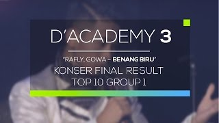 Gambar cover Rafly, Gowa - Benang Biru (D'Academy 3 Konser Final Top 10 Group 1)