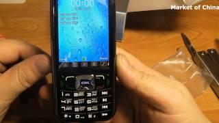видео Телефон кнопочный китайский