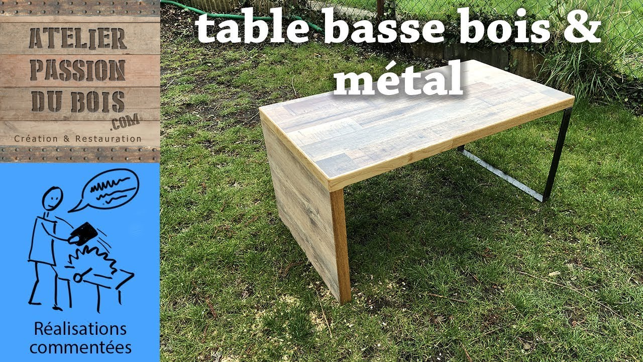 Tuto Table Basse Bois une table basse en metal et bois de plan de travail