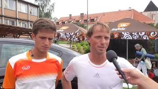 Vít Kopřiva a Jaroslav Pospíšil po výhře ve finále čtyřhry na turnaji Futures v Pardubicích