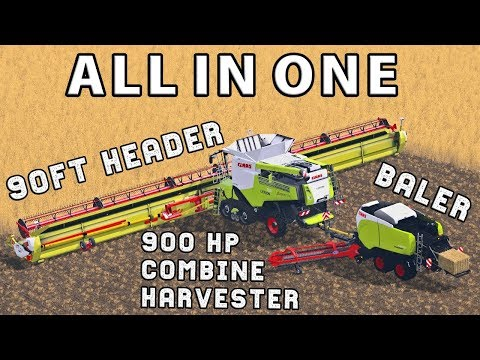 INCREDIBLE COMBINE AND BALER SETUP - ALL IN ONE