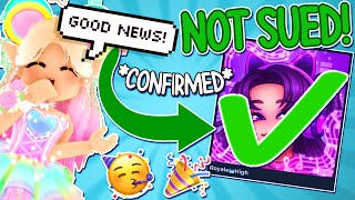 ROBLOX ROYALE HIGH IS *NOT* GETTING SUED ANYMORE? *GOOD NEWS!* ROBLOX Royale High Tea Spill & Drama