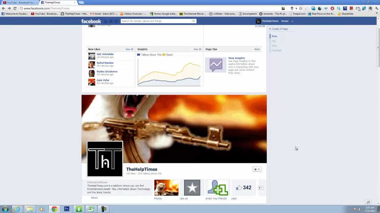 How to put animated gif as facebook timeline cover profile fan how to put animated gif as facebook timeline cover profile fan page youtube negle Image collections