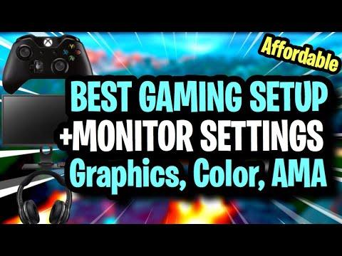 BEST GAMING SETUP FOR FORTNITE + BenQ Settings (Best Graphics / Color Settings + AMA Explanation)