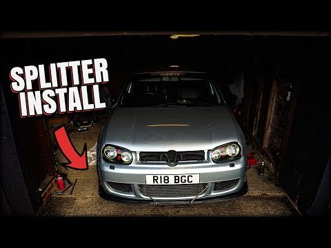I Put a Splitter on the Golf Mk4!