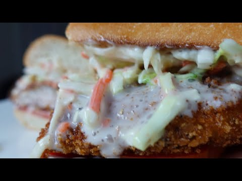 Spicy Catfish Po Boy Crispy Fried Fish Sandwich Recipe