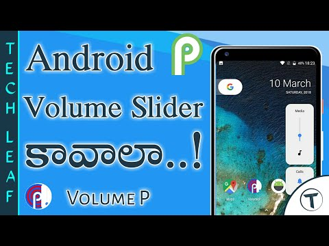 How to Get Android P Volume Slider   Android P Volume Slider   Android P   Telugu