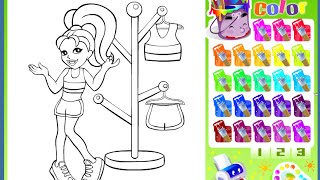 Polly Pocket Coloring Pages For Kids - Polly Pocket Coloring Pages Games