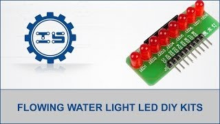 8 Channel Flowing Water Light Led Electronic Diy Kits