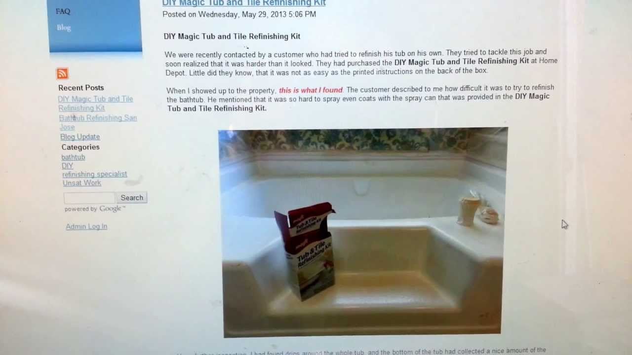 DIY Magic Tub and Tile Refinishing Kit Review - YouTube