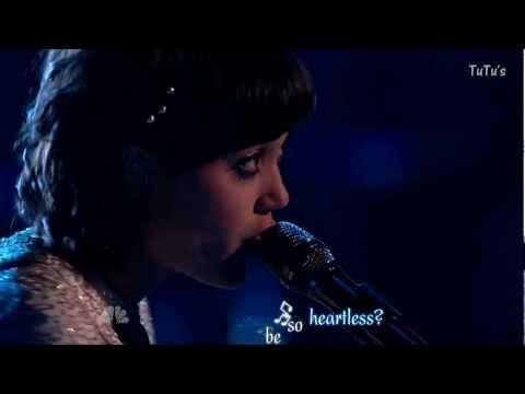 Heartless - Dia Frampton (The voice HD performance) - Karaoke Effect.mkv