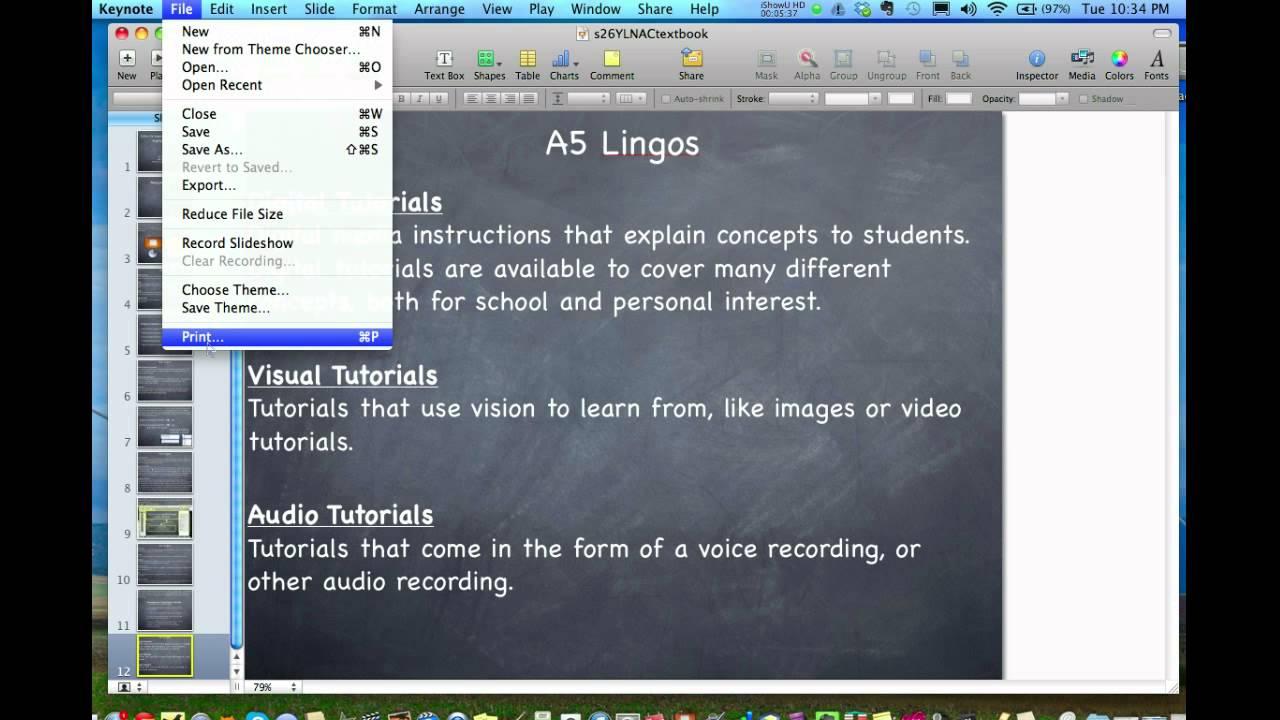 Saving Keynote as a pdf - YouTube