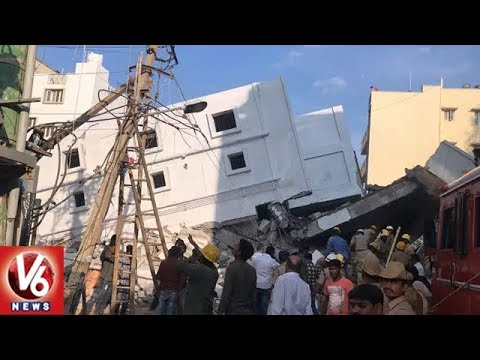 Under Construction Building Collapses In Bangalore, 3 Dead, 15 Injured | V6 News