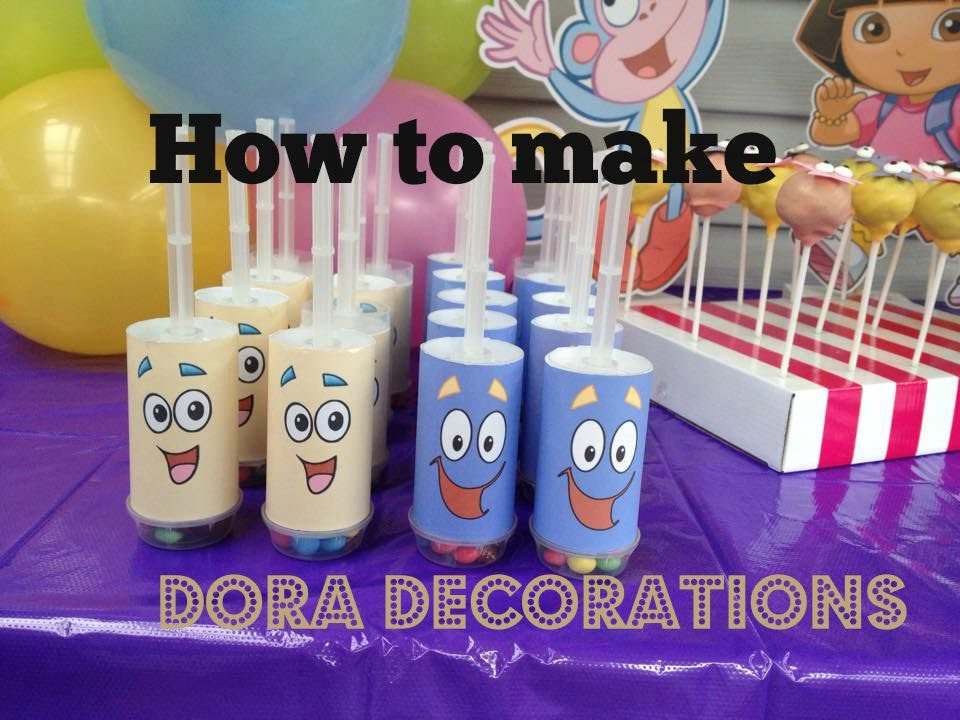 How to make Dora The Explorer Party Decorations with FREE