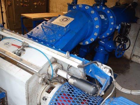 New Crossflow Hydro Turbine 100 kW started with testing