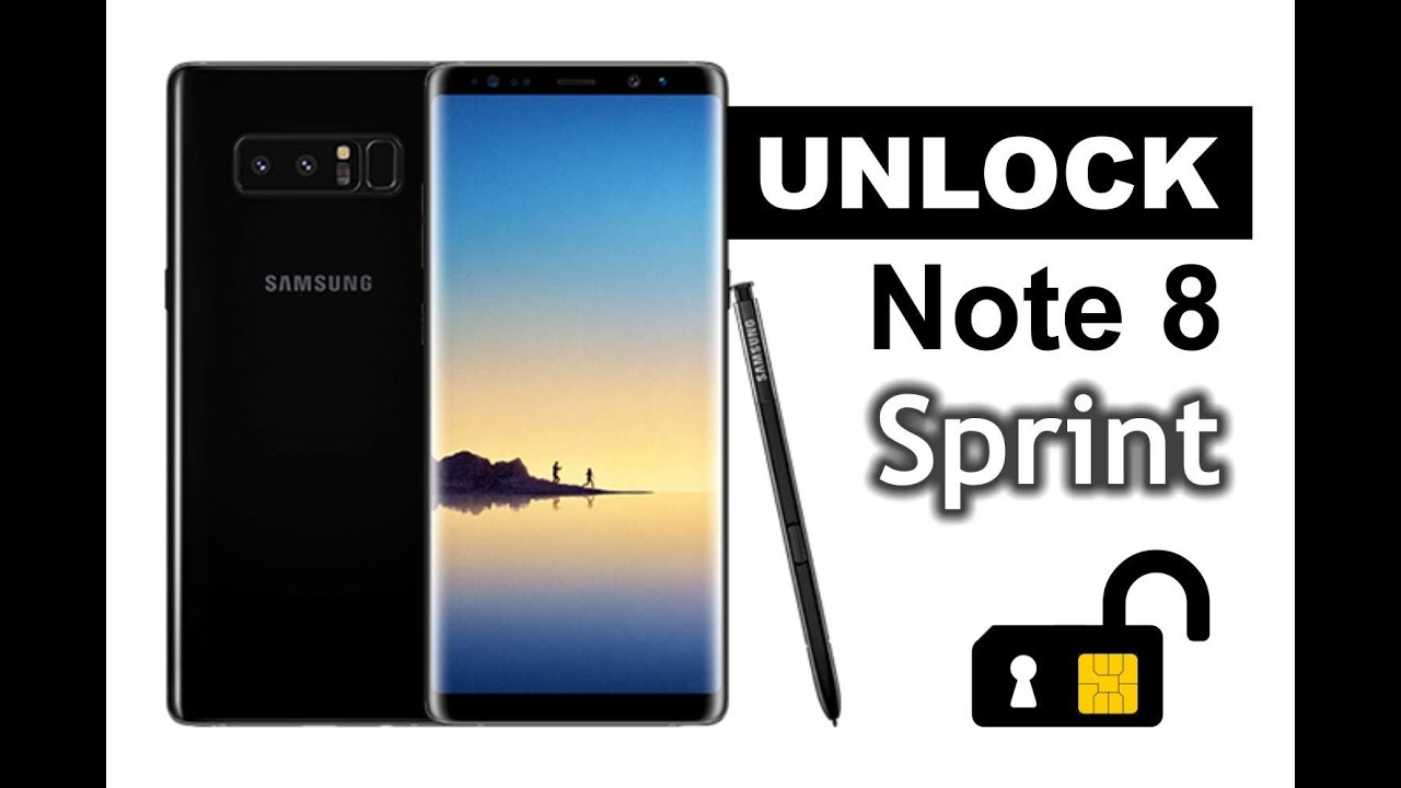 How To Unlock Samsung Galaxy Note 8 from Sprint to any Carrier
