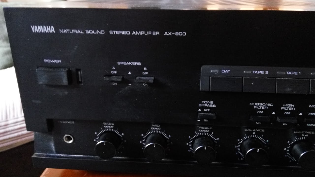 100 Amp Disconnect >> Test Yamaha AX 900 Stereo amplifier - YouTube