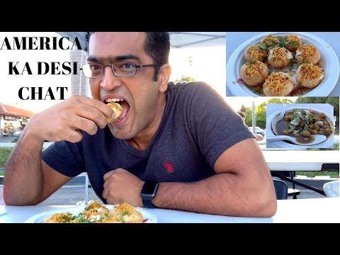 America Ka Desi Chat | Indian Food In USA | Sunnyvale Food Cart |Delhi Dahiwala | Hindi VLOG-7