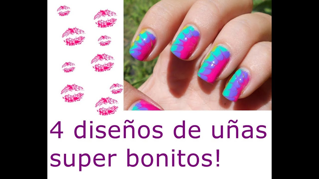 4 dise os de u as super f ciles y bonitas youtube - Unas bonitas y faciles ...