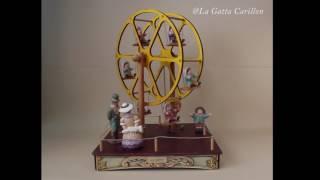 Carillon giostra per bambini - GRAN RUOTA PANORAMICA con bimbi (melodia: Inno alla gioia)