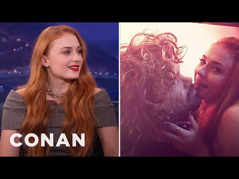 Sophie Turner Got Caught Licking A Tyrion Mask  - CONAN on TBS