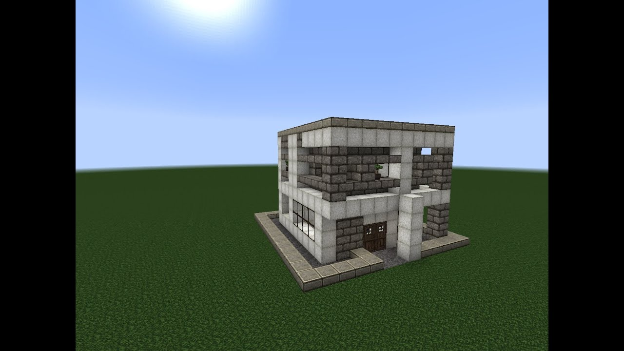 11 X 11 Minecraft Speed Build 1 11x11 Modern Mansion Youtube