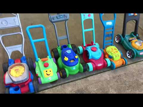 Toy Lawn Mowers | Spring Break Play Time!!