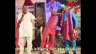 See What Odunlade Mr Latin Are Caught Doing As Dele Odule Gives Speech At Paragons Birthday Party
