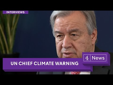 "UN Chief: ""Climate change is the defining element of our time"" (interview)"