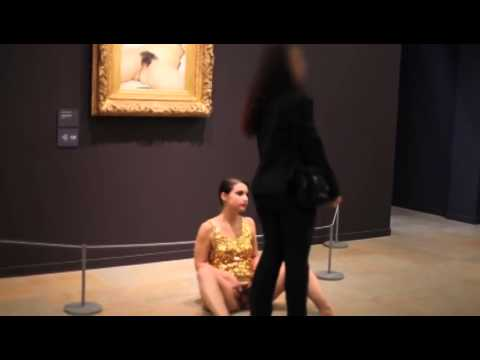 "Performance Artist Does the Impossible, Shows Up Courbet's ""Origin of the World"""