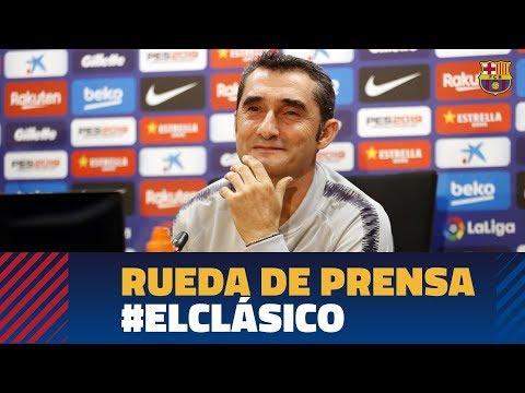 BARÇA 5-1 MADRID | Rueda de prensa de Valverde previa a #ElClásico