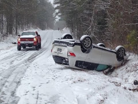 Cars Crashing On Ice Video