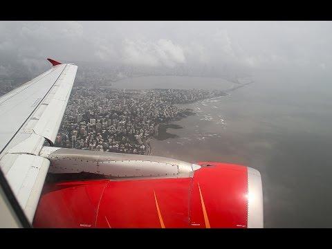 Air India flight AI663 Mumbai - Goa - Airbus A319 [FullHD]