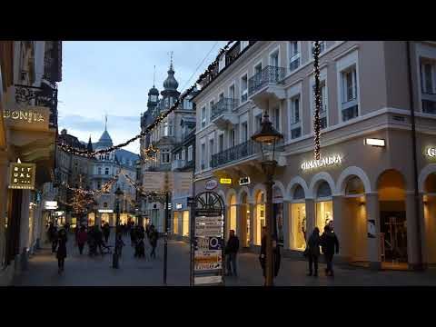 D: Baden-Baden. Germany. Sights and Sounds from the City Center. December 2017