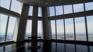 At the top of One World Trade Center