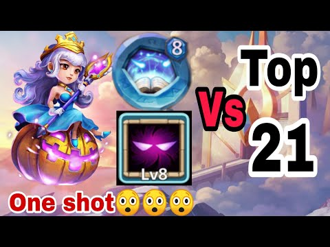 Trixie Treat | 8/8 Unhloy Pact | 8 Revite | Vs Top-21 Beast | One Shot | Castle Clash