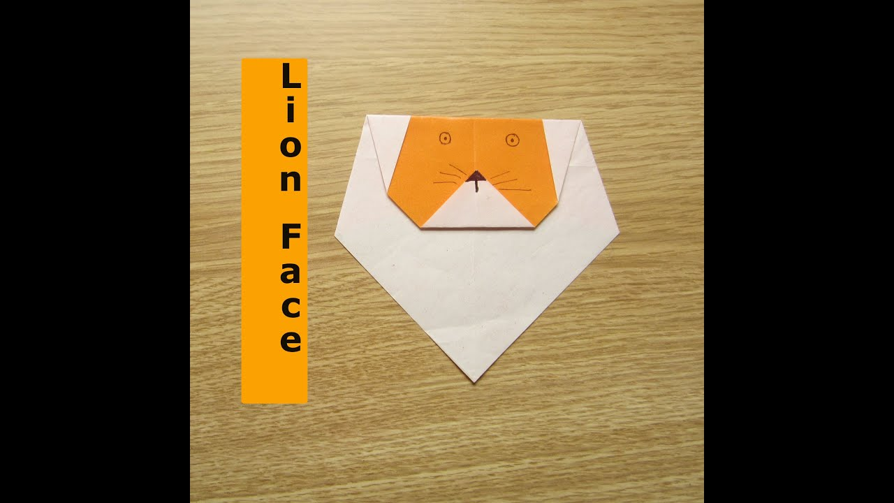 Origami Lion Craft Ideas For Kids Activekidscreativebees Youtube