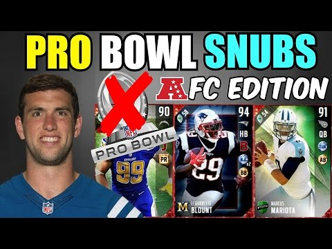 THE PRO BOWL SNUBS TEAM! - AFC EDITION - Madden 17 Ultimate Team Squad Builder